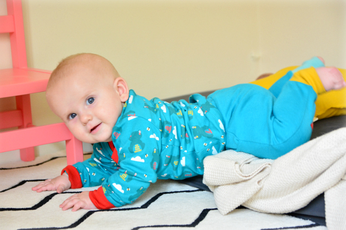 Otto crawling out of bed at HWM #2