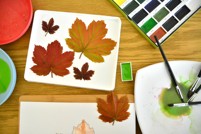 After school painting leaves at HWM