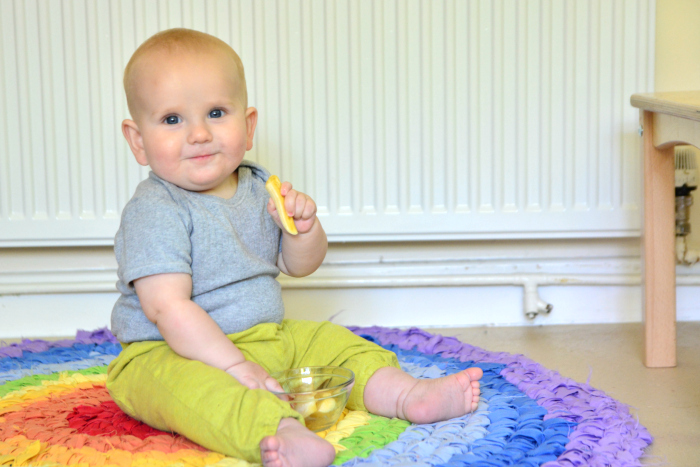 Otto  weaning at How we Montessori at eight months  finger food