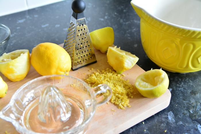 Otis making Lemon Mini Bundt Cakes at How we Montessori