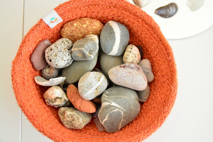 Seaside stones at HWM