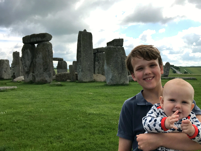 Caspar and Otto at Stonehenge June 2018