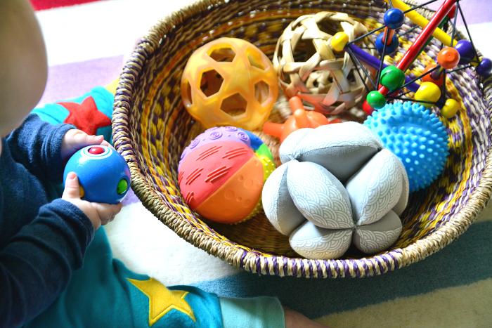 Montessori music basket at How we Montessori  fair trade authentic musical instruments for children