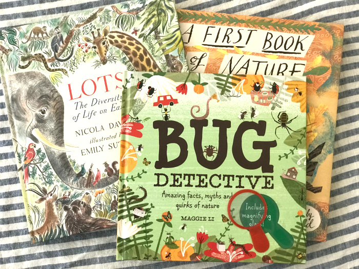 A few new books at How we Montessori  first nature books
