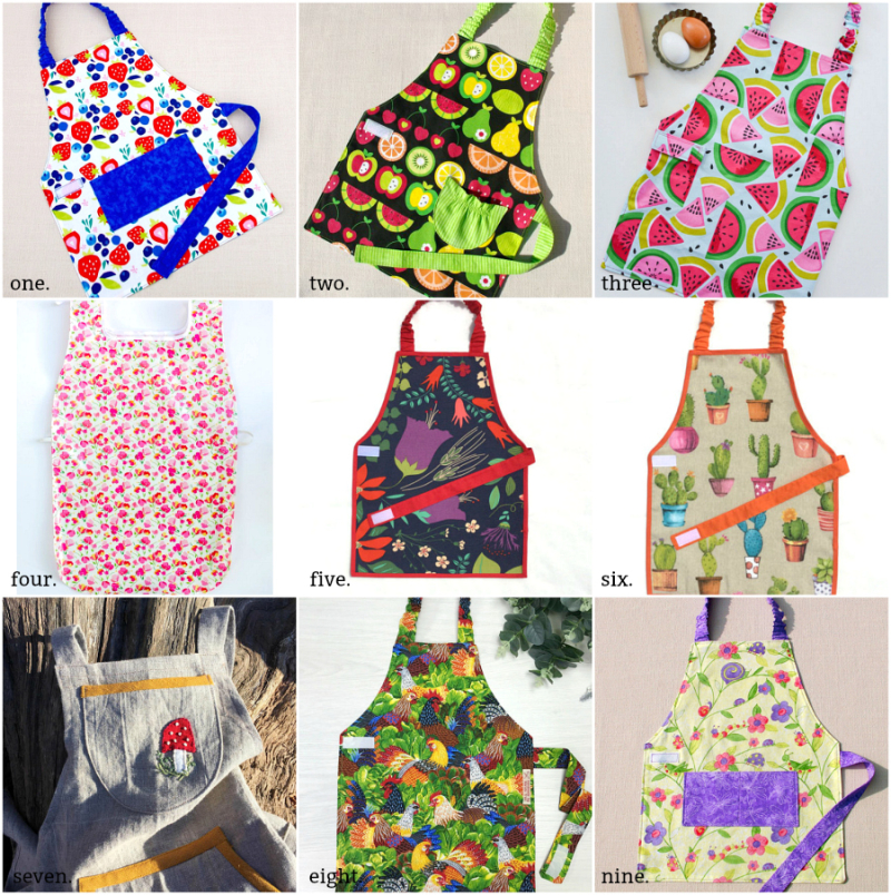 Montessori Summer Aprons at How we Montessori