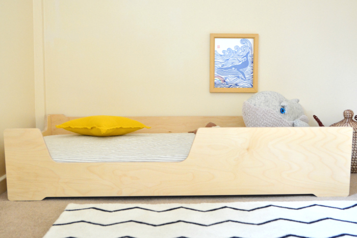 Crib size Montessori floor bed at HWM