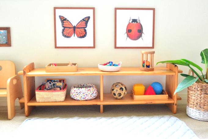 How we Montessori  Newborn Shelves