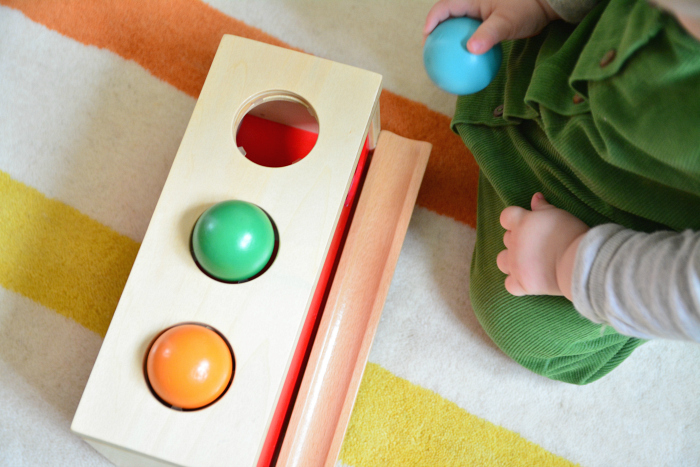 Otto ball object permanence box at HWM 11 months