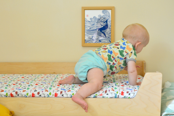 Otto not napping on floor bed at How we Montessori 11 months