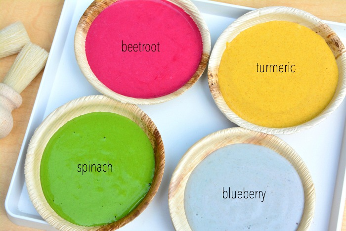 Home made natural DIY baby finger paint at How we Montessori