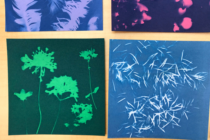 How we Montessori coloured sun prints