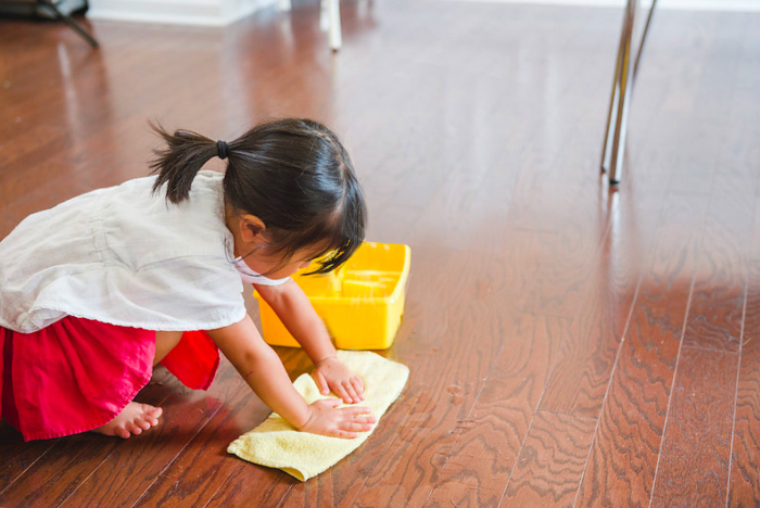 Bella's Casa cleaning at How we Montessori
