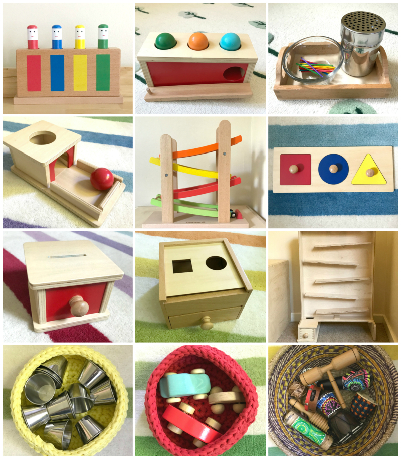 HWM 12 months Montessori toys and materials