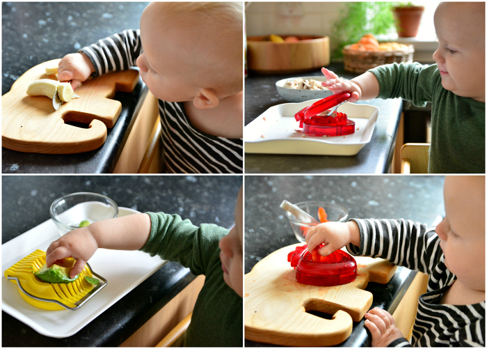 Slicing at 13 months  Montessori Practical Life at How we Montessori