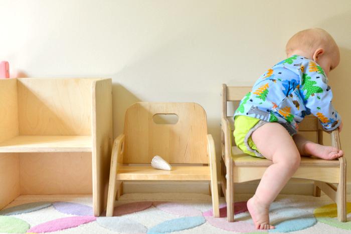 Childs Childrens Wooden Stool Noah/'s Ark Step Stool