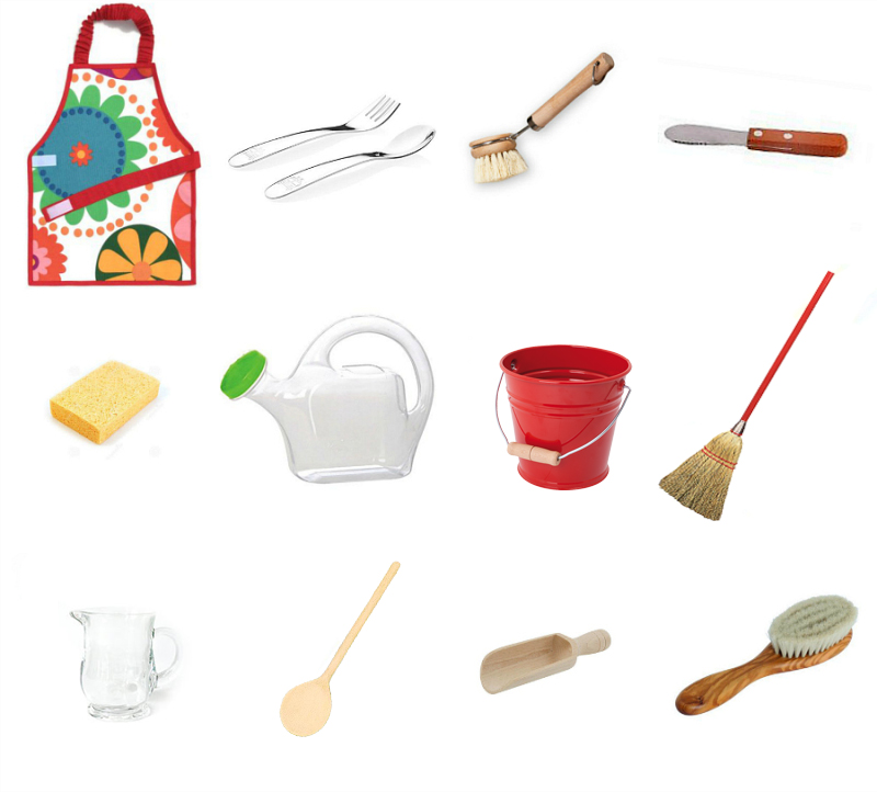 First Montessori Practical Life Materials at How we Montessori