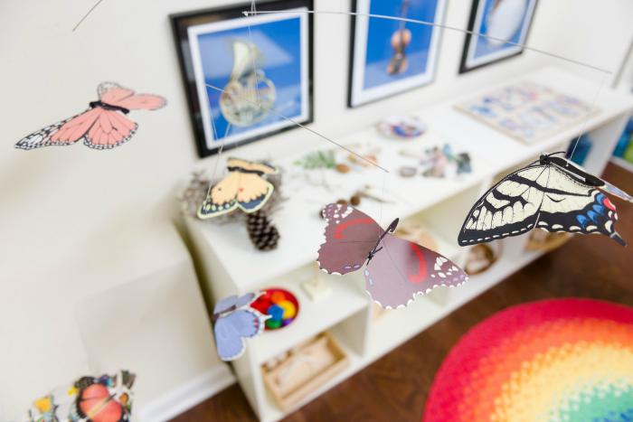 Bella's Casa butterfly mobile