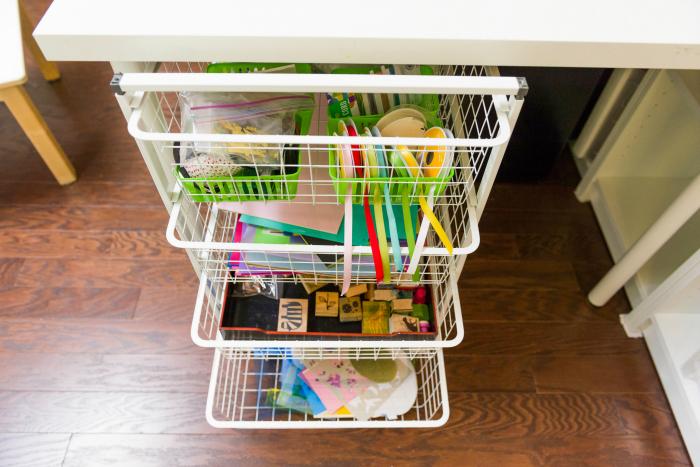 Bella's Casa Art Cart at How we Montessori