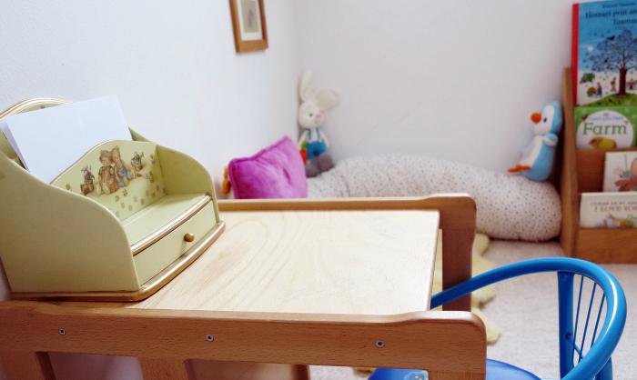 Dressing area  Romania at How we Montessori