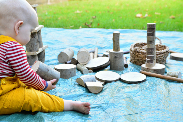 e68498607 Outdoor Activities for Crawling Babies - Autumn - how we montessori