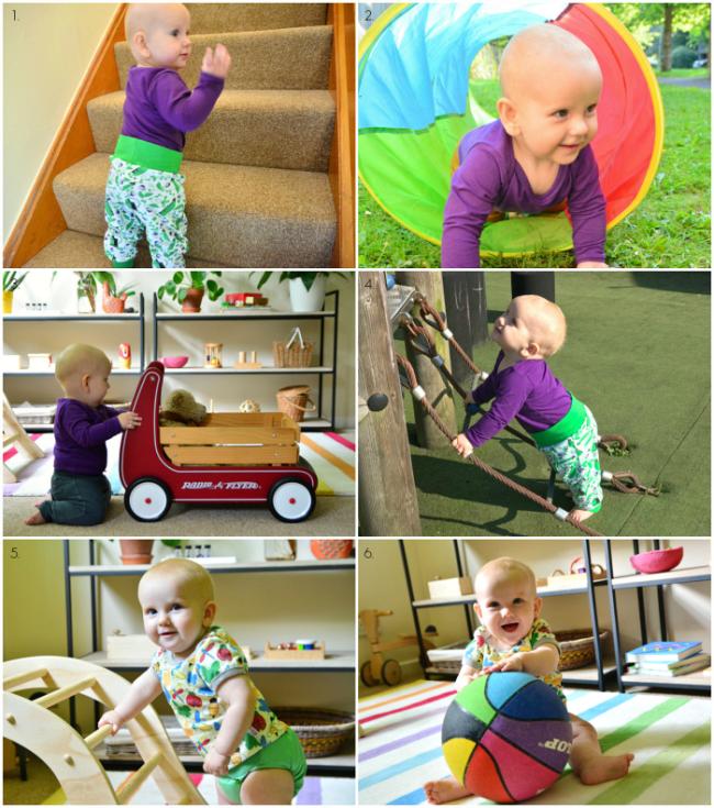 Gross Motor Montessori baby at nine months at How we Montessori