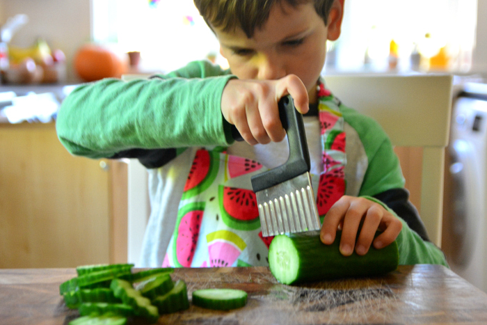 Making pickles with children at How we Montessori