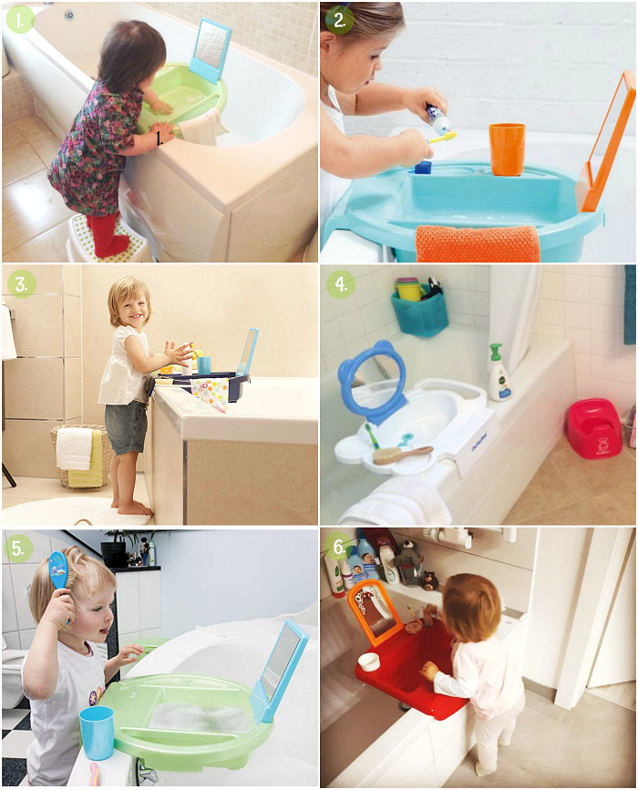 Montessori Toddler Bath ideas  basin on the bath at How we Montessori