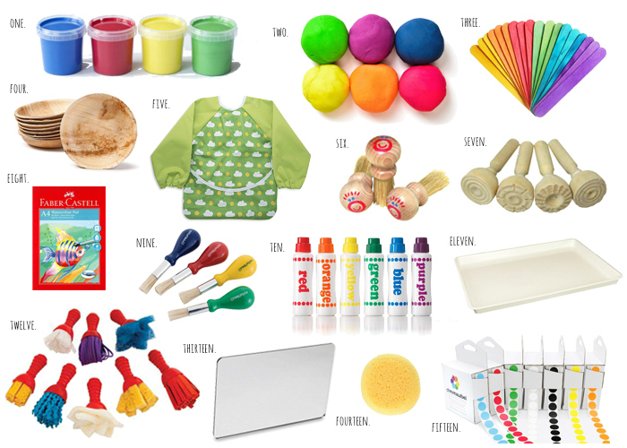 Art Supplies for Babies at How we Montessori