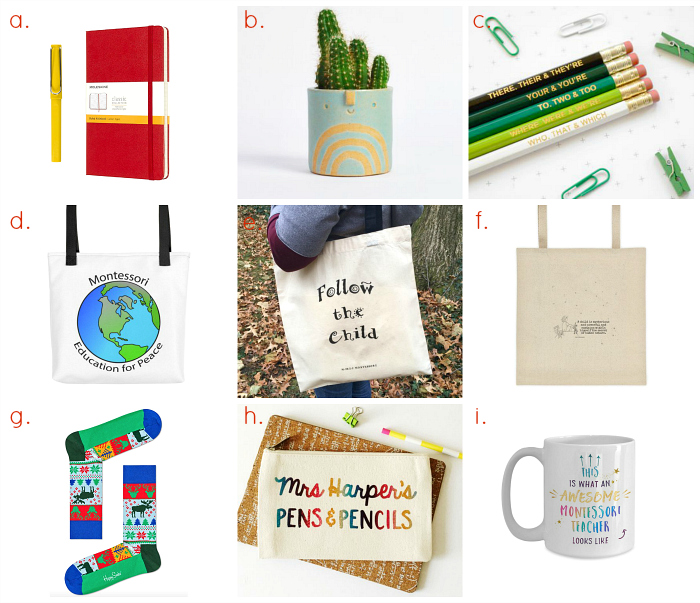Montessori Teacher Gift Ideas at How we Montessori