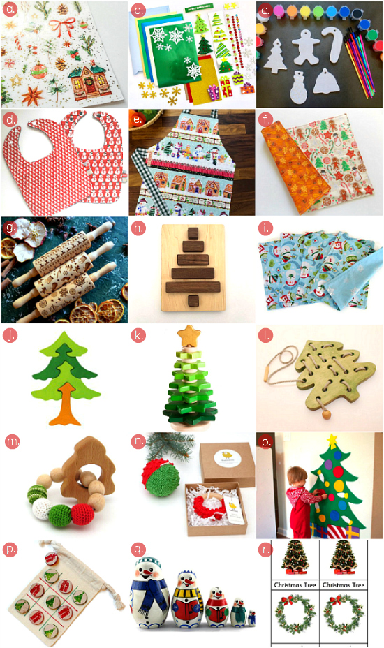 Montessori Christmas Finds at Etsy at HWM