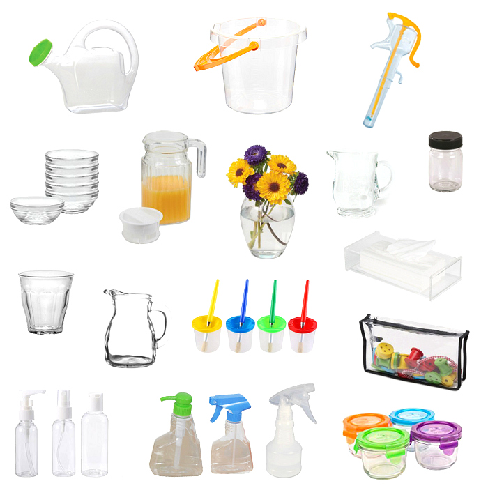 Clear and transparent Montessori tools at How we Montessori  infant and toddler environment