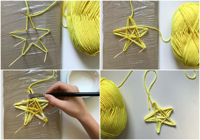 Handmade Children's wool Christmas star at How we Montessori