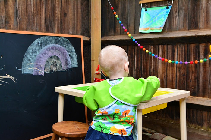 Otto's art area at how we Montessori)