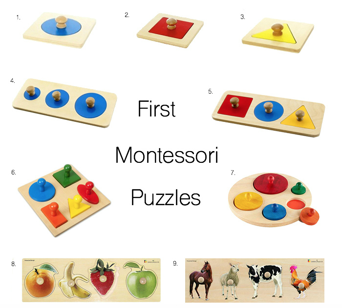 First Montessori Puzzles at How we Montessori