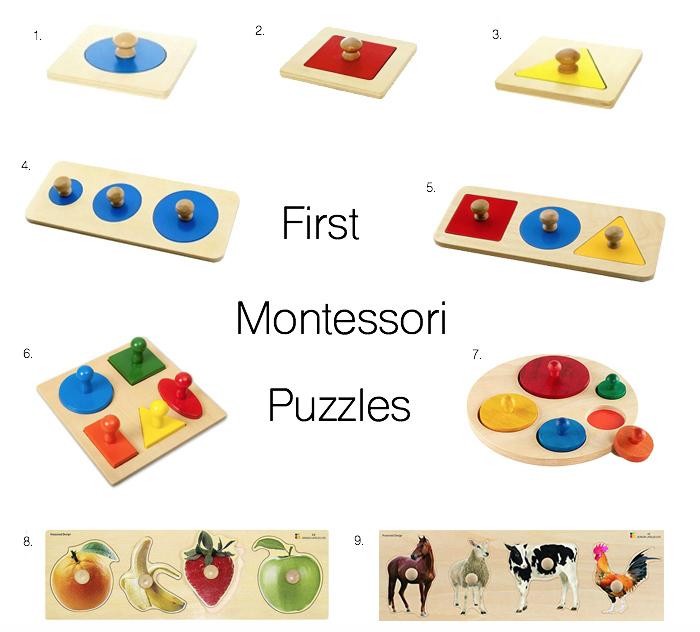 First Montessori Puzzles at How we Montessori