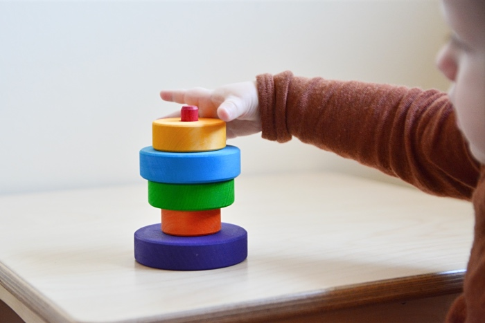 Otto grimm's small stacking toy at How we Montessori