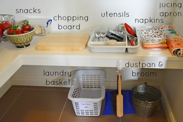 Montessori Cleaning Station at How we Montessori