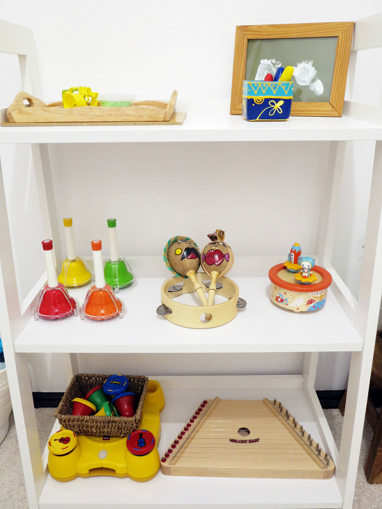 Art and Music Shelf  Romania  at How we Montessori
