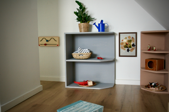 Montessori in Denmark  beautiful Montessori shelves