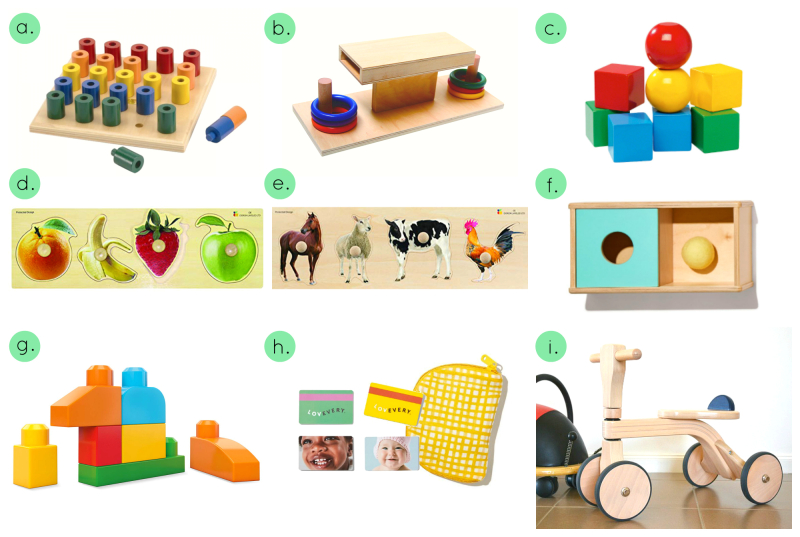 Montessori Materials 13-14 months at HWM