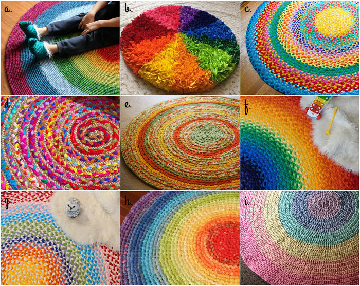 Rainbow Rag Rugs at How we Montessori