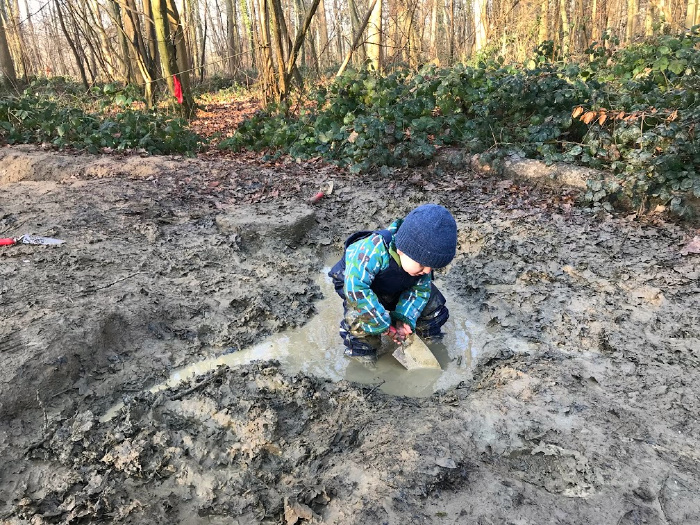 Otto 17 months at Forest School UK