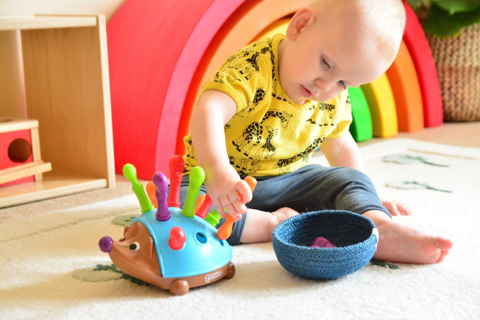 Otto 17 months how we montessori fine motor hedgehog