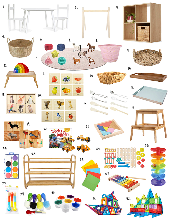 Montessori Home Ideas at Kmart - Australia - how we montessori
