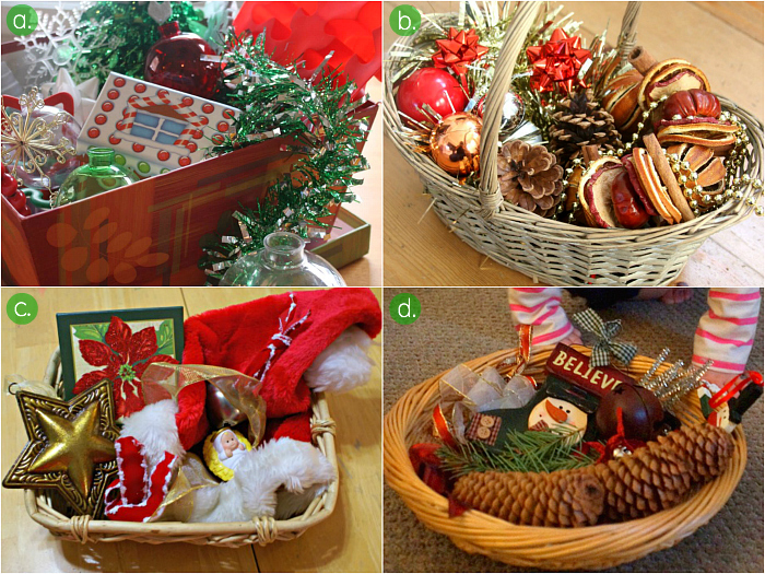 Christmas Treasure Basket Ideas at How we Montessori
