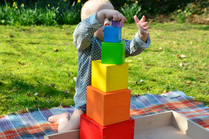 Otto building coloured tower at him 17 months