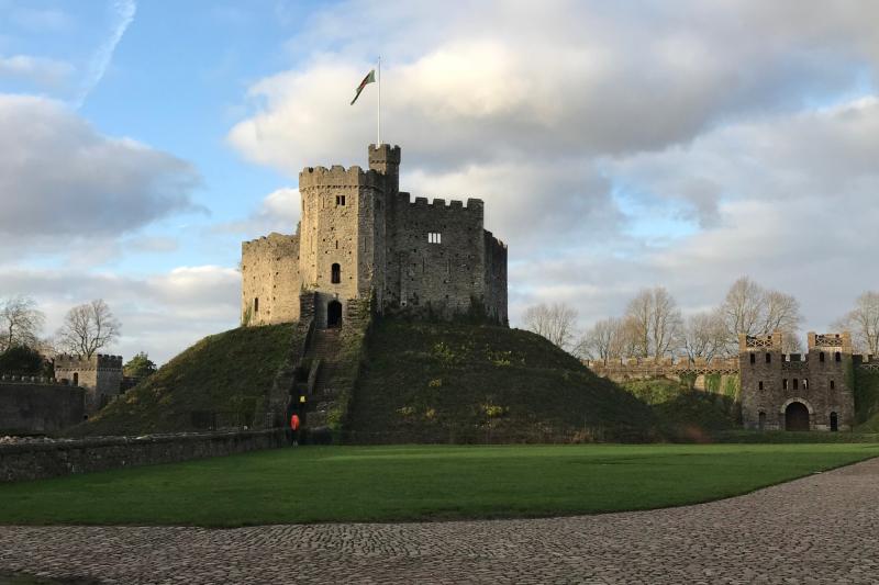 Cardiff Castle Wales Jan 2019