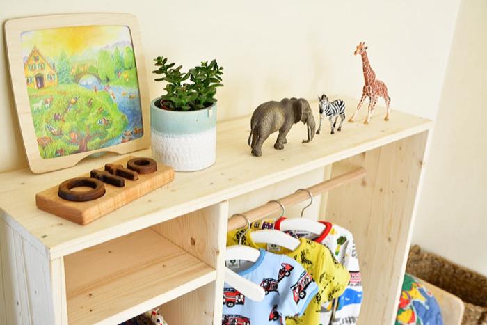 Montessori Toddler Room  toddler wardrobe at how we Montessori