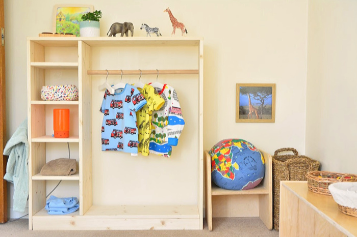Montessori Toddler Room  toddler wardrobe at how we Montessori