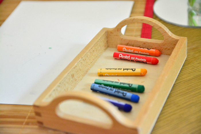 Oil pastels for toddlers at How we Montessori Otto at 20 months